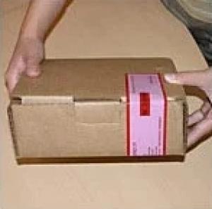Пломбировочный скотч, сигнальная лента КТЛ, в рулоне 660 отрезков 50х100мм