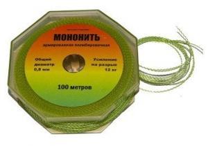 Мононить армированная 0,7 мм, бобина по 100м проволока