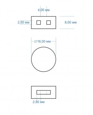 Свинцовые пломбы 16мм. 77 шт. в кг. ДСТУ 2803-94 (ГОСТ 30269-95)