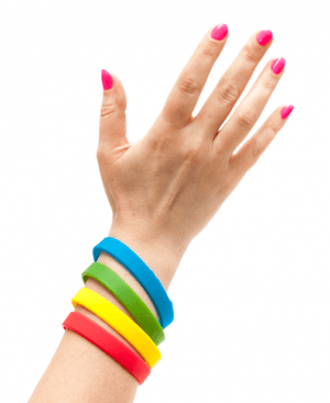 Силиконовые браслеты оптом, упаковка 100шт.