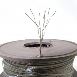 Трос нержавеющий пломбировочный семижильный d=0,5мм, в бобине 100м