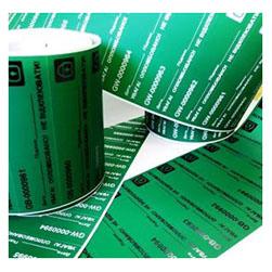 Индикаторные пломбы-наклейки 20х70 мм, зелёная, НЕ оставляет след на объекте