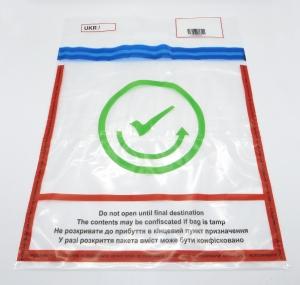 Сейф-пакеты ИКАО 390х520мм прозрачные с прочной ручкой для DUTY FREE