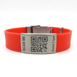 Силиконовый ID браслет / Браслет +адрес